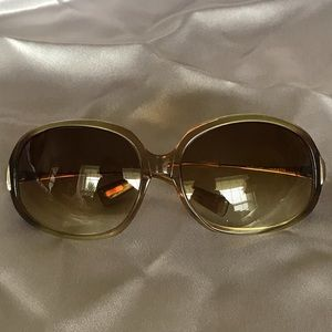 OLIVER PEOPLES ,sunglasses brown  & gold , unisex